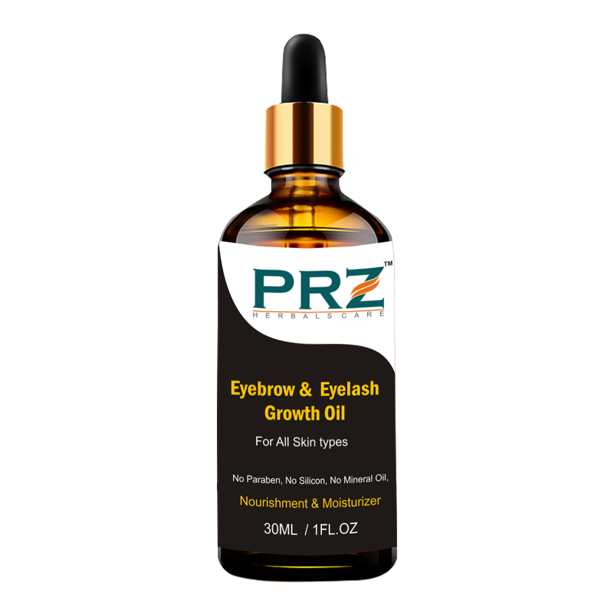 Prz Thick Eyebrow Eyelash Growth Oil 30ml For Women Strength